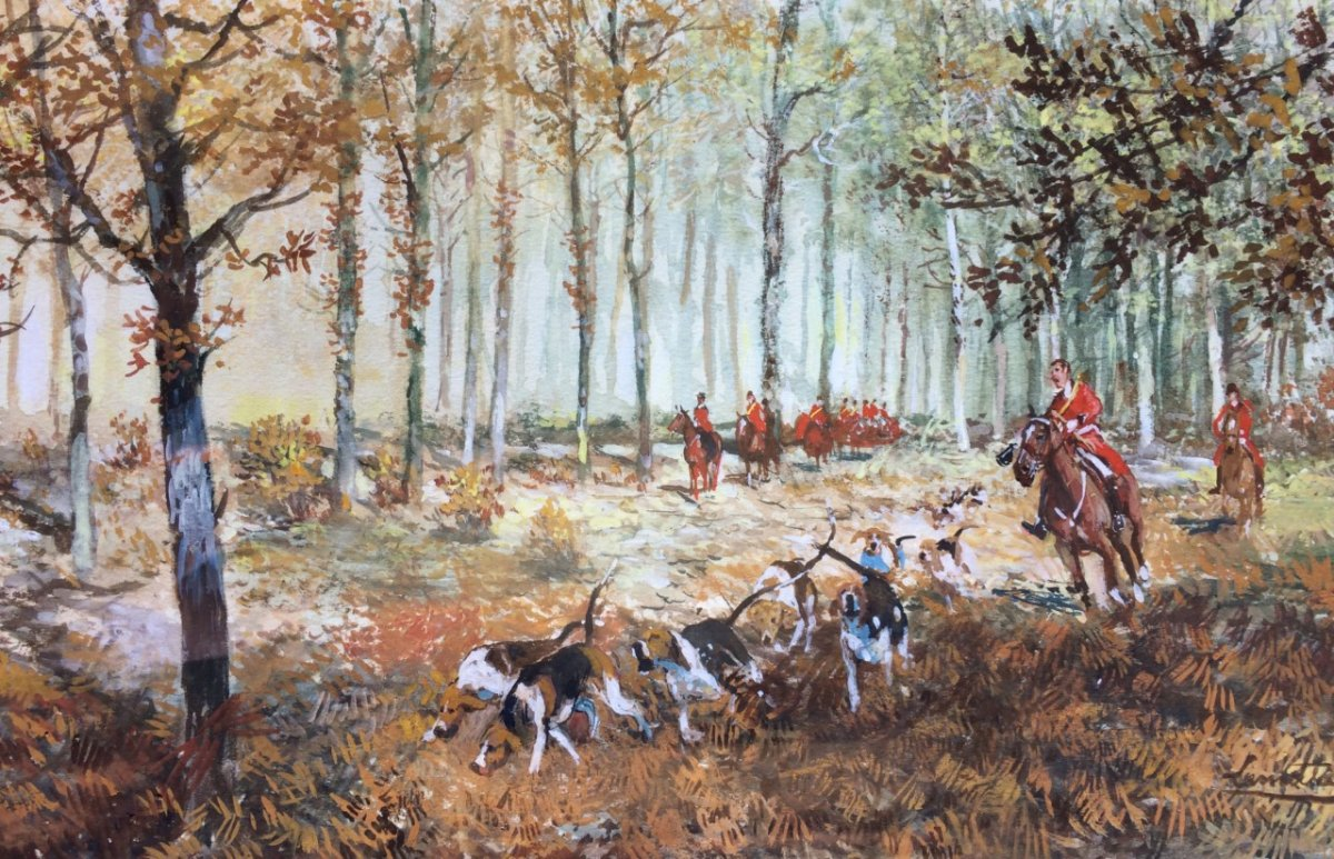 Gabriel Lamotte, Hunting With Hounds