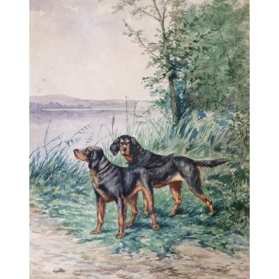 Alfred Weber, Chiens De Chasse