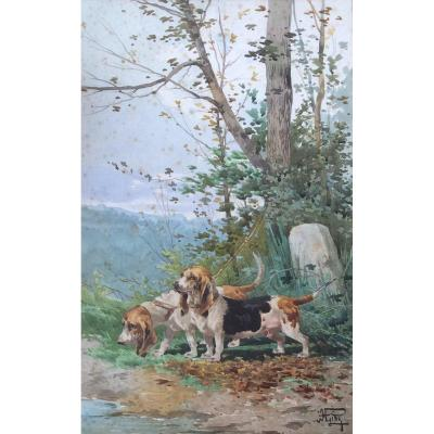 Hippolyte Gide, Hunting Dogs