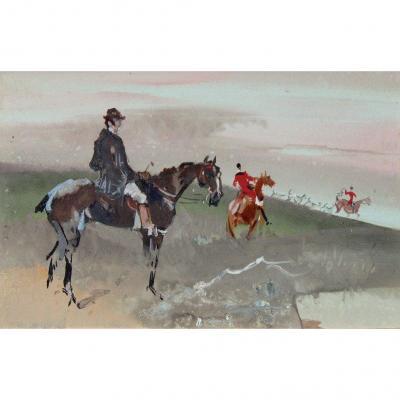 Jules Finot, Hunting Scene