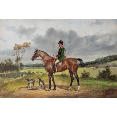Johnny Audy, Huntsman On Horseback
