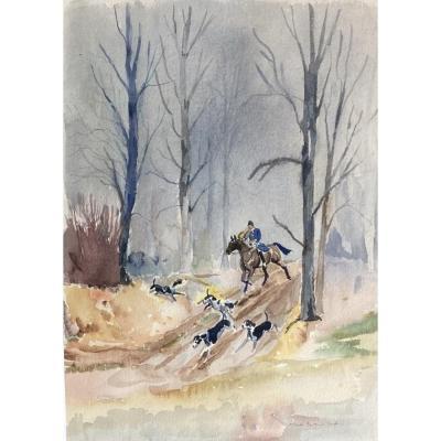 Gaston La Touche, Hunting Scene