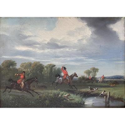 Henri Auguste De Montpezat, Hunting With Courre