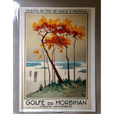 Alo Charles Rare Affiche Touristique Golfe Du Morbihan