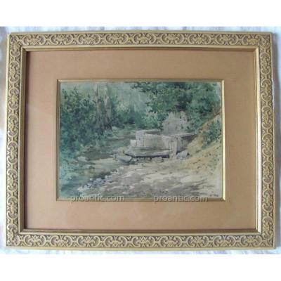 Source Dans Un Sous Bois - Rodolphe Wytsman (1860-1927)