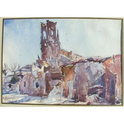 Flirey 1917 - A. Fossard - Impressionniste tardif - Mémoire De La Grande Guerre 1914 1918