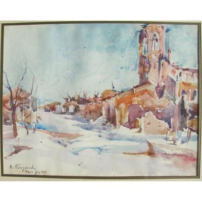 Flirey - Albert Fossard - Impressionniste Tardif - Mémoire La Grande Guerre 1914 1918 Verdun