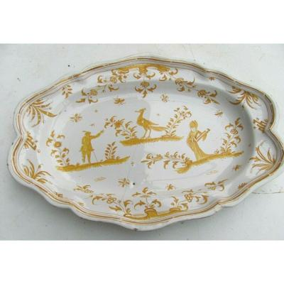 Oval Moustiers Faience Dish XVIIIth
