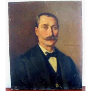 Portrait Of A Man XIXth - Honoré Chapuis - Besançon School