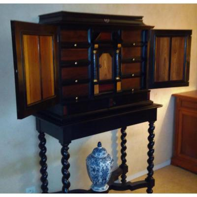 Cabinet De Style Louis XIII  XIX Siècle