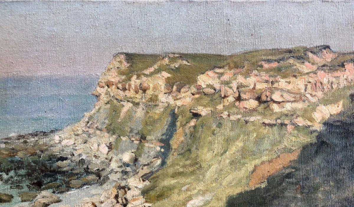 Francis Tattegrain (1852-1915), Bord De Mer, Côte Normande Ou Côte d'Emeraude, Paysage, Huile