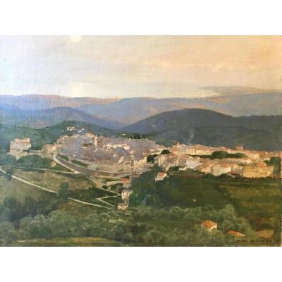 Marco De Gastyne (1889-1982), Paysage à La Ville Fortifiée, 1917