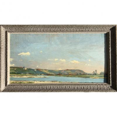 Jules Bral, Paire De Paysages : Vues Des Environs De Toulon, 1888, Huile Panneau, esquisse