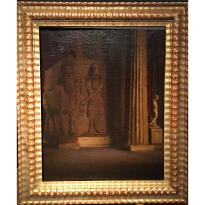 A.sadler (english School - XIXth Century), Interior View Of The British Museum In London, Oil