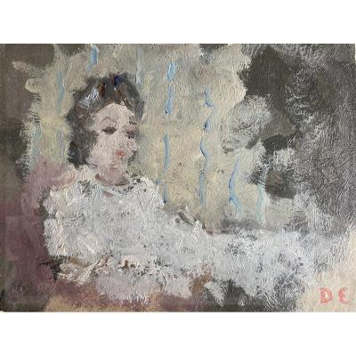 Dietz Edzard (1893-1963), Au Reveil, 1960, Esquisse, Huile