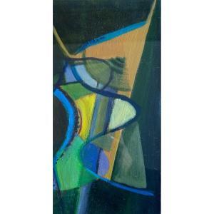 Tib? Composition Abstraite 2, Vers 1950, Huile