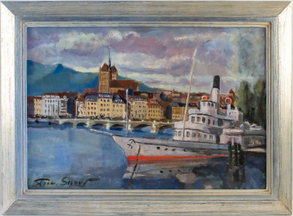 SICARD Pierre (Paris 1900, 1980) Français- Vue de Genève.