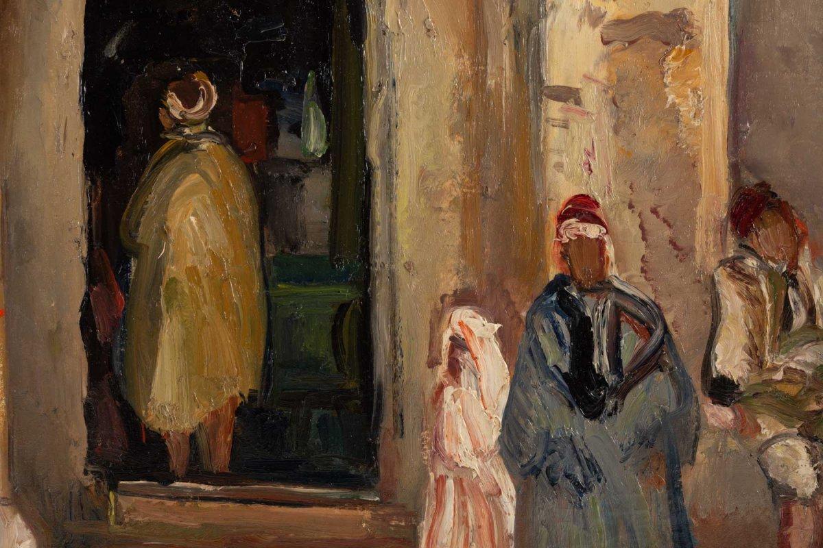 Fernand Allard L 'olivier (attrib.) (1883, 1933) - Tunis Street Scene -circa 1920.-photo-1