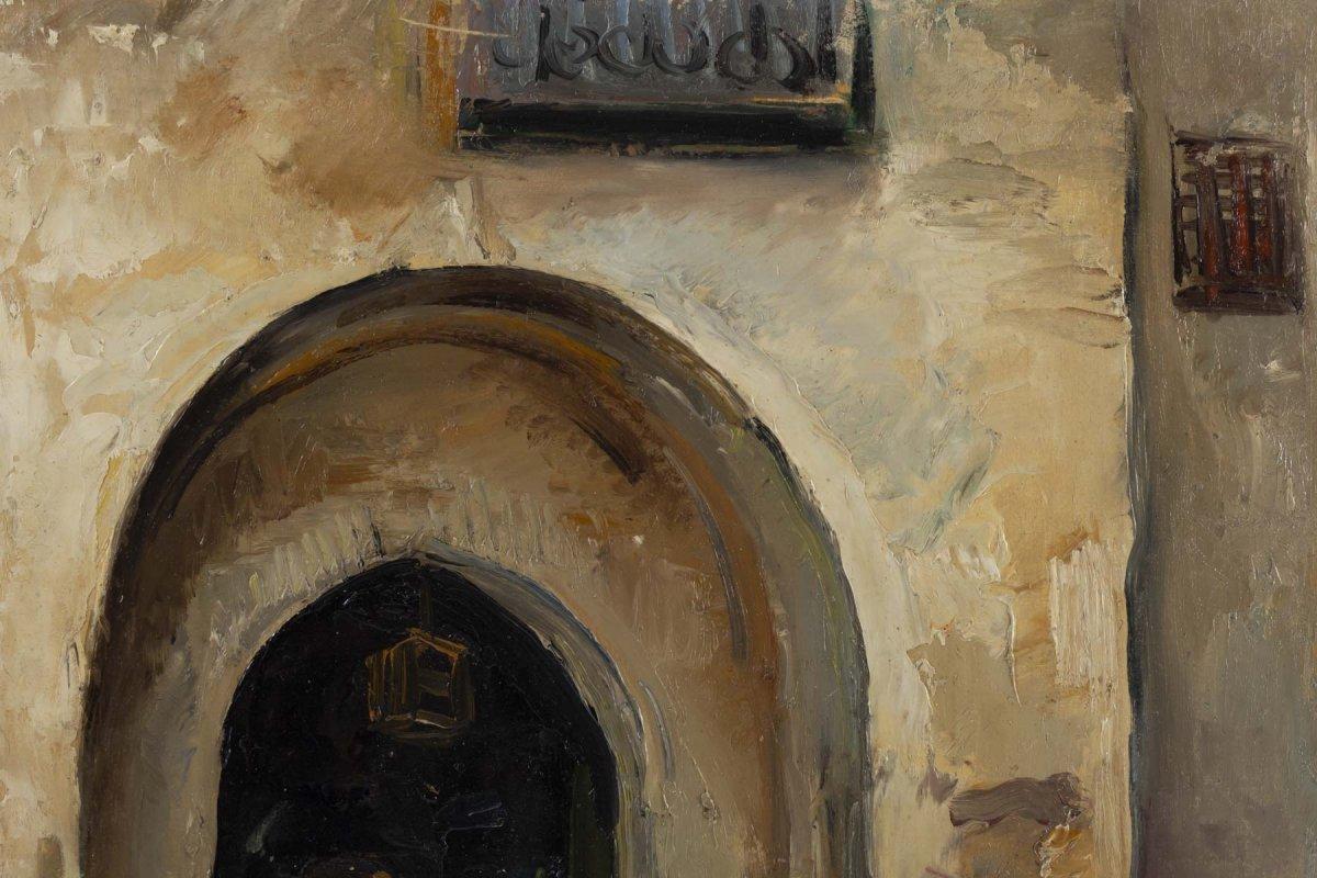 Fernand Allard L 'olivier (attrib.) (1883, 1933) - Tunis Street Scene -circa 1920.-photo-3