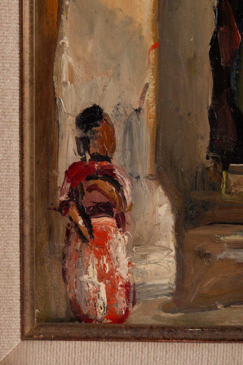 Fernand Allard L 'olivier (attrib.) (1883, 1933) - Tunis Street Scene -circa 1920.-photo-5