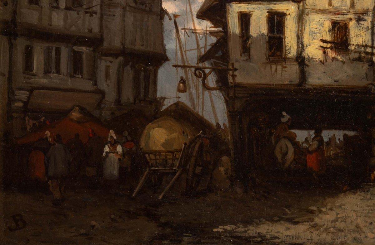 Johannes Bosboom (1817 - 1891) - View From Rouen- Circa 1837-1839.-photo-1