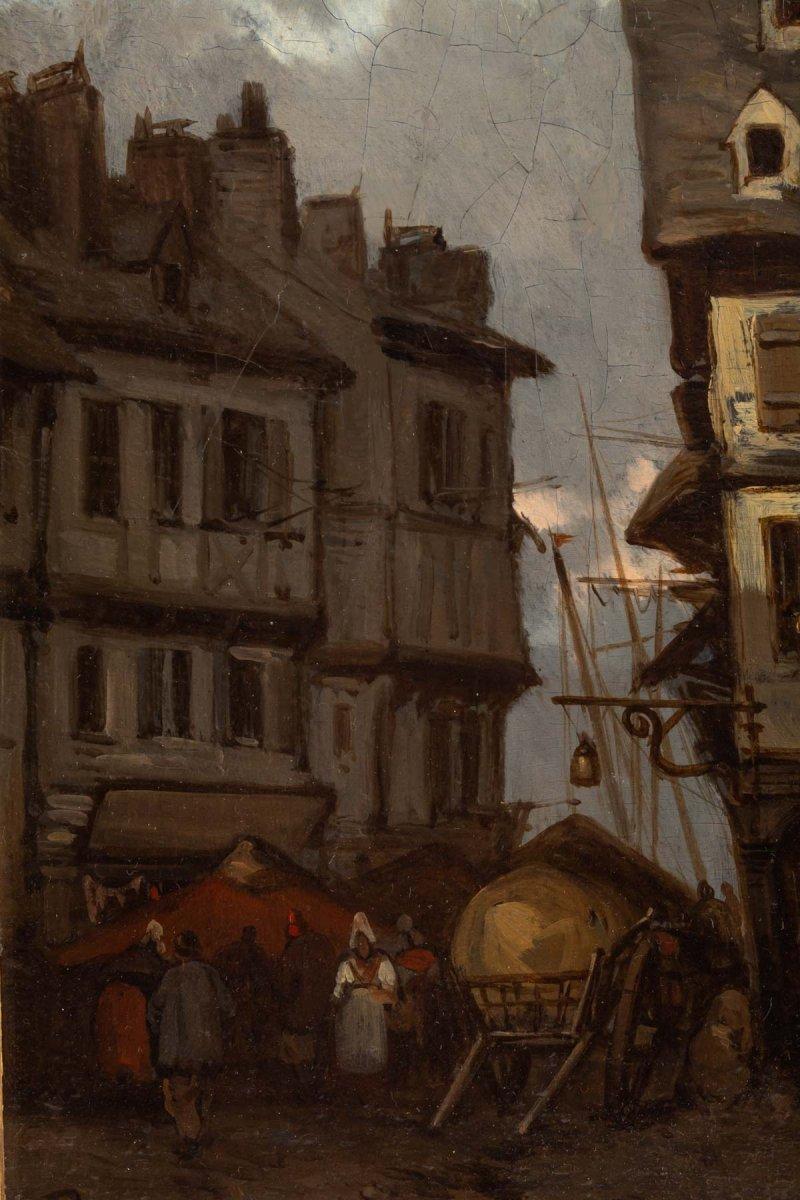 Johannes Bosboom (1817 - 1891) - View From Rouen- Circa 1837-1839.-photo-2