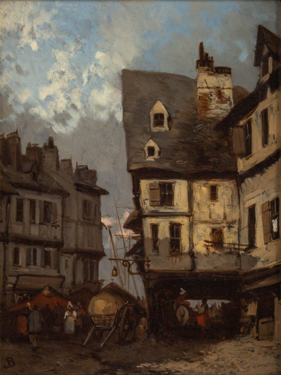 Johannes Bosboom (1817 - 1891) - View From Rouen- Circa 1837-1839.