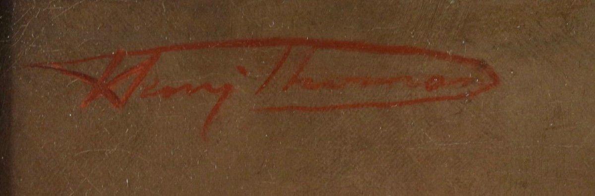 Henri Joseph Thomas (1878 - 1972) Belgian School - Green Shoes.-photo-3