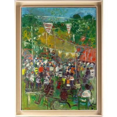Alain MATHIOT - (Né en 1938) école Lyonnaise- La fête foraine -Circa 1970