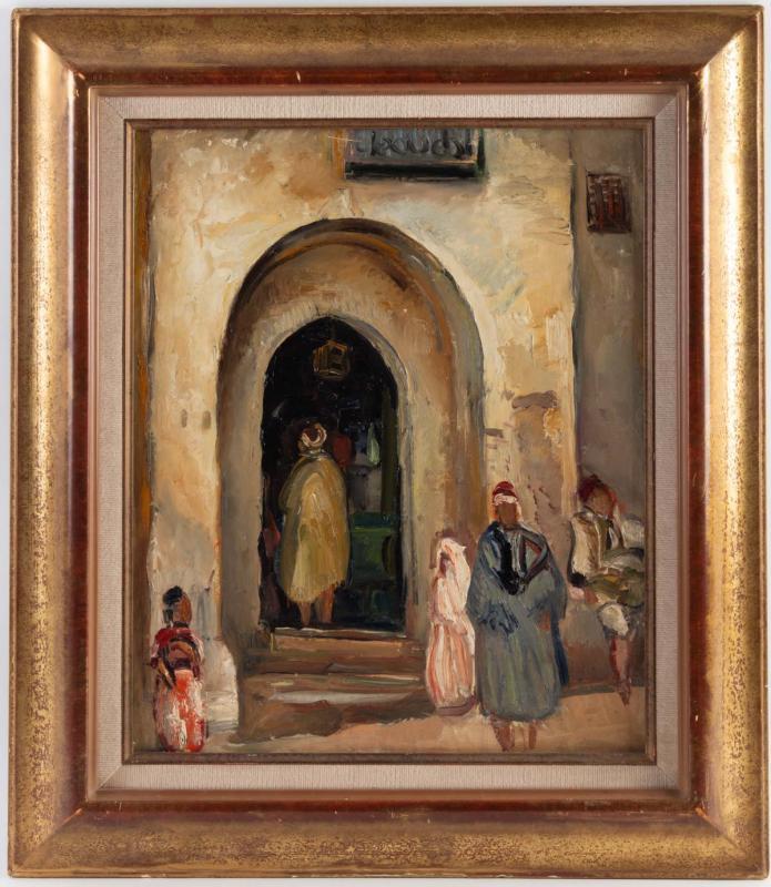 Fernand Allard L 'olivier (attrib.) (1883, 1933) - Tunis Street Scene -circa 1920.-photo-2