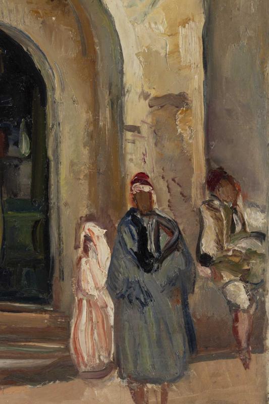 Fernand Allard L 'olivier (attrib.) (1883, 1933) - Tunis Street Scene -circa 1920.-photo-4