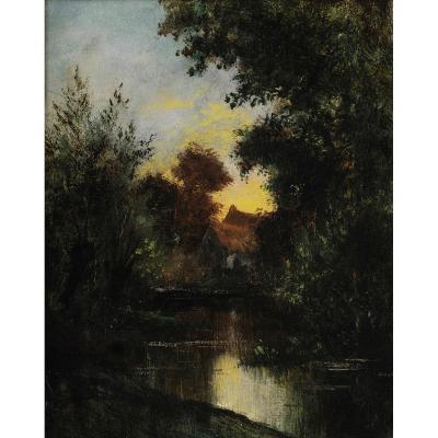 Jules DUPRÉ (1812 – 1889) français - Mare au crépuscule .