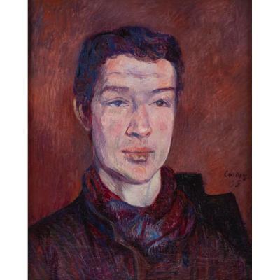 Frédéric Samuel CORDEY (1854 – 1911) - Portrait d'homme, daté 1895