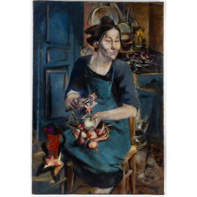 Chastel Roger (1897- 1981) - La cuisinière - Portrait d' Aline 1940-41.