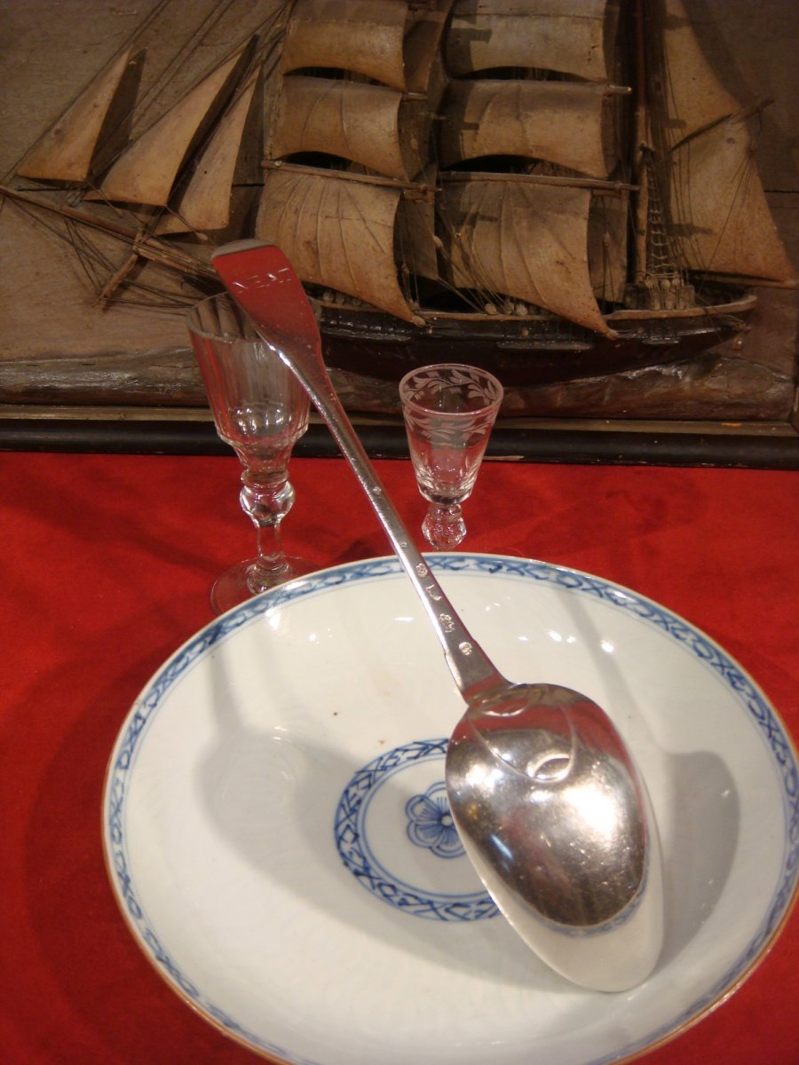 Large Service Spoon In Sterling Silver - Saint Malo