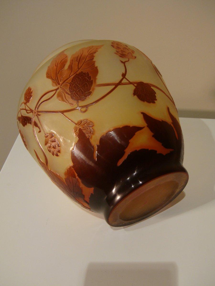 Emile Gallé Vase Aux Fleurs De Houblon - Epoque Art Nouveau -photo-6