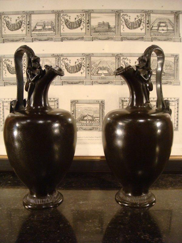Paire De Vases Aiguières En Bronze - Inspiration Grec