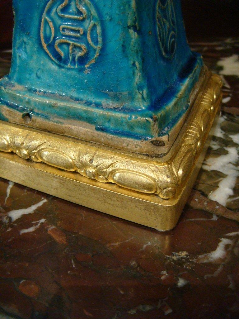 Paire De Vases En Ceramique - Chine Epoque XVIII ème Siècle -photo-1