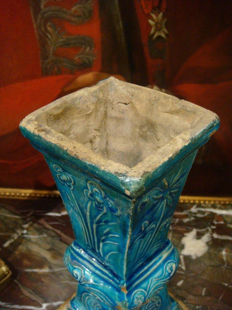Paire De Vases En Ceramique - Chine Epoque XVIII ème Siècle -photo-4