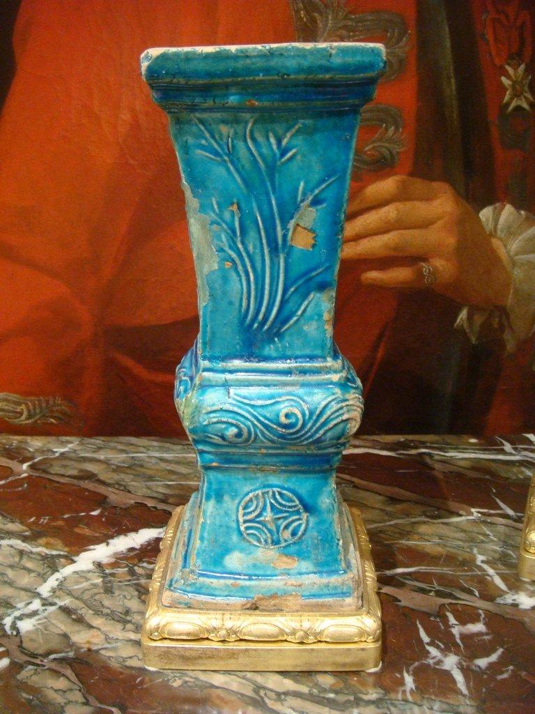 Paire De Vases En Ceramique - Chine Epoque XVIII ème Siècle -photo-7