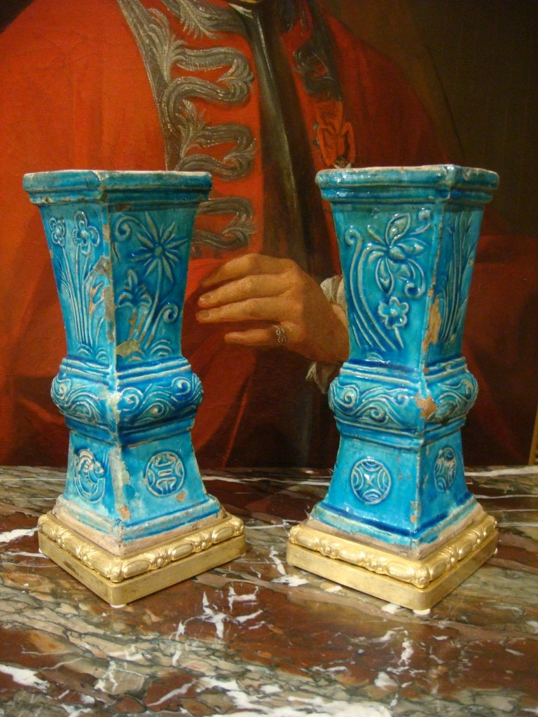 Paire De Vases En Ceramique - Chine Epoque XVIII ème Siècle -photo-8