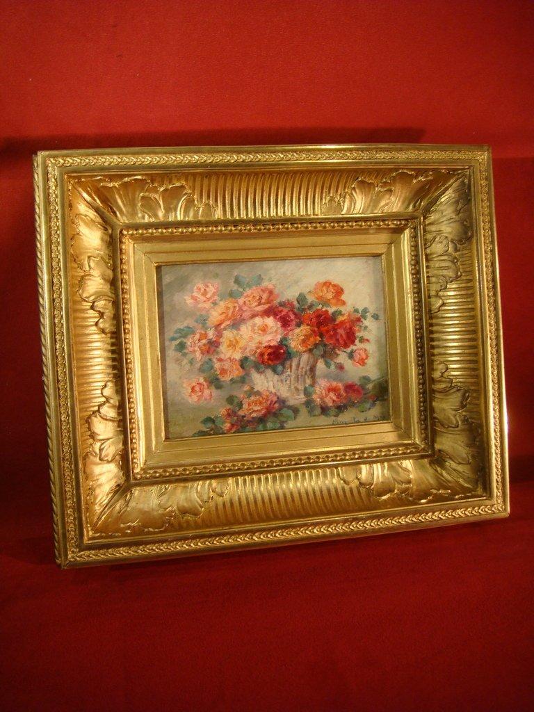 Tableau Bouquet De Roses - Marguerite Du May