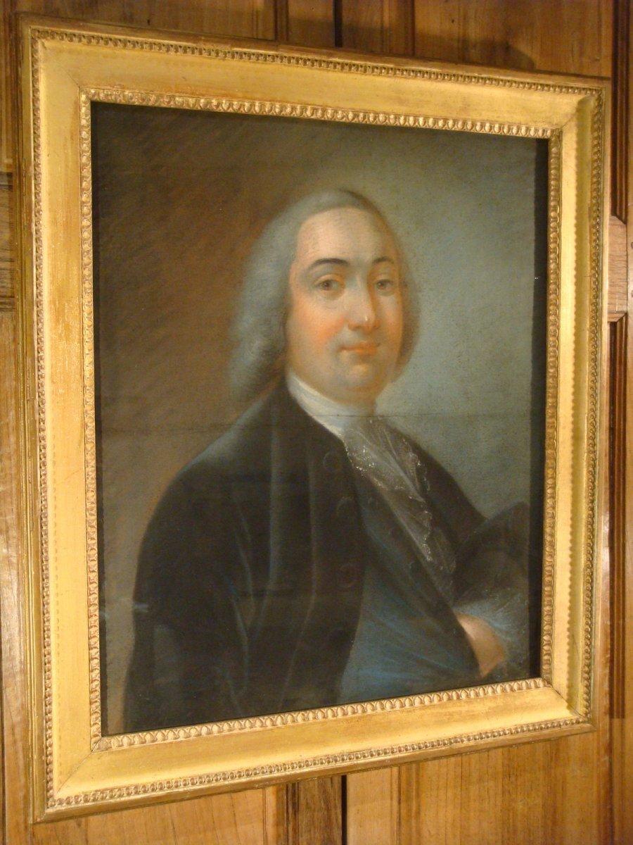 Portrait Pastel d'Un Gentilhomme - Epoque Louis XVI