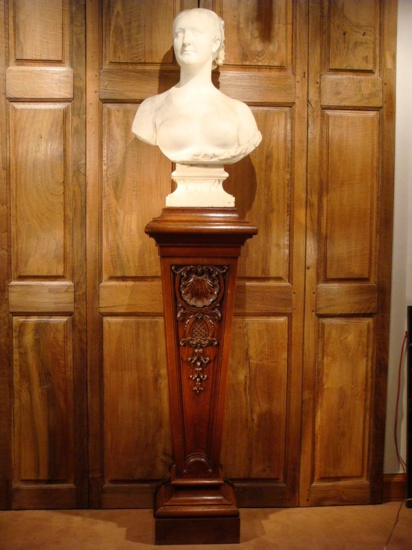 Buste De Femme En Marbre XIX ème Siècle