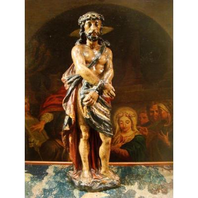 Sculpture Statue Christ Aux Liens