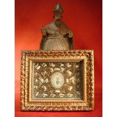 Reliquary Frame Paperolles - Early Eighteenth Century Era