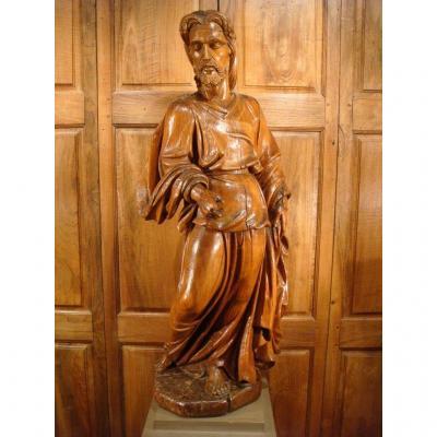 Grande Sculpture Saint Jean Baptiste - Epoque Début XVIII ème Siècle