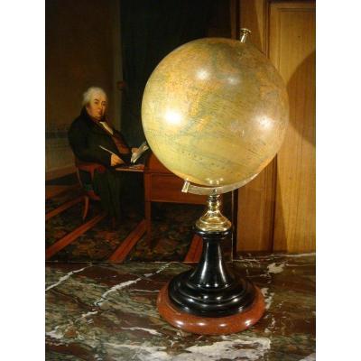 Globe Terrestre De La Maison Delamarche - Epoque XIX ème
