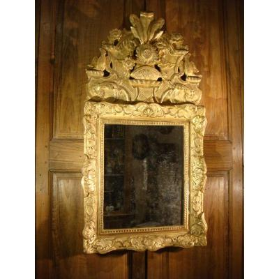 Mirror In Golden Wood Pediment With Birds - Regency Period