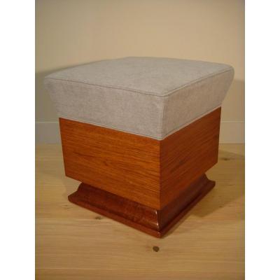 Cubic Living Room Stool - Art Deco Period